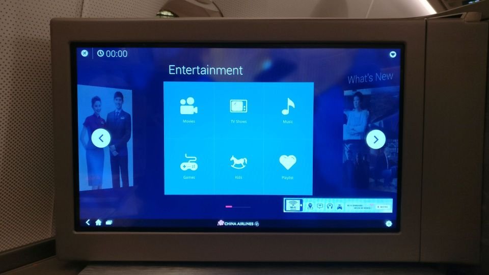 China Airlines Business Class Airbus A350 Entertainment