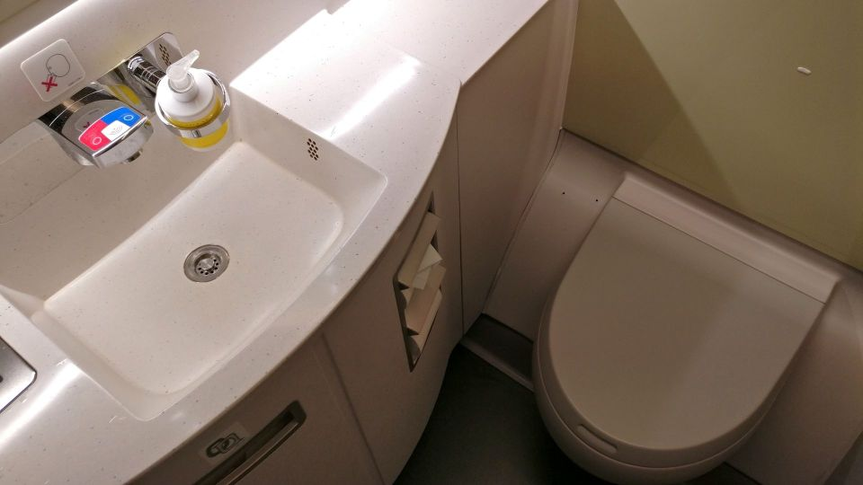 China Airlines Business Class Airbus A350 Lavatory