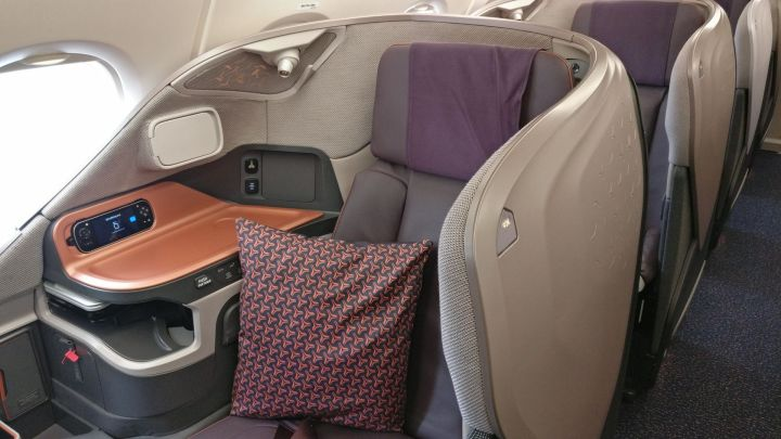 Singapore Airlines Business Class Airbus A380 Seat