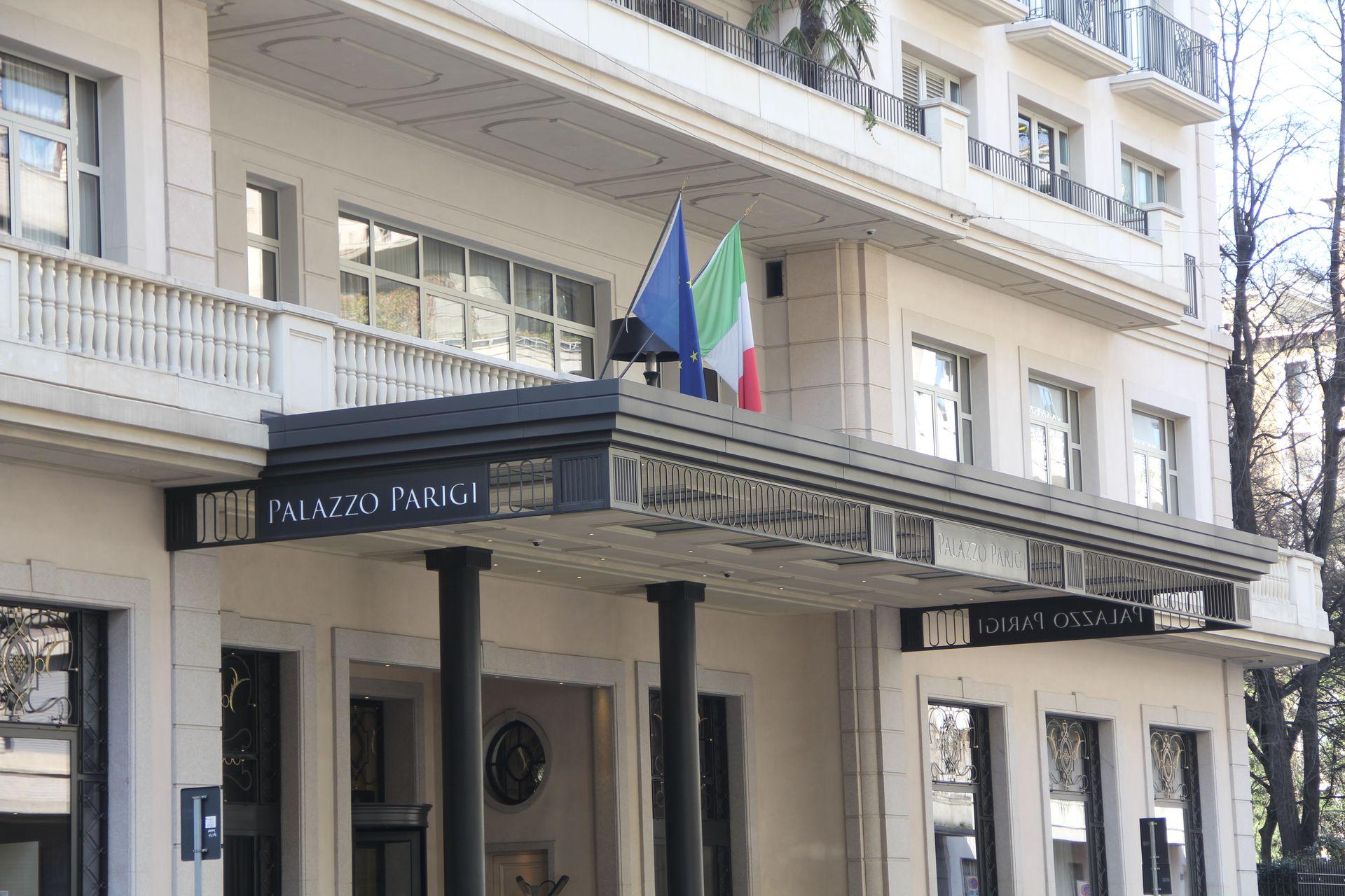 Palazzo Parigi Milan Entrance