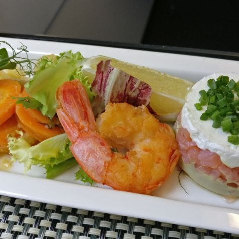 Saudia Business Class Airbus A320 Lunch
