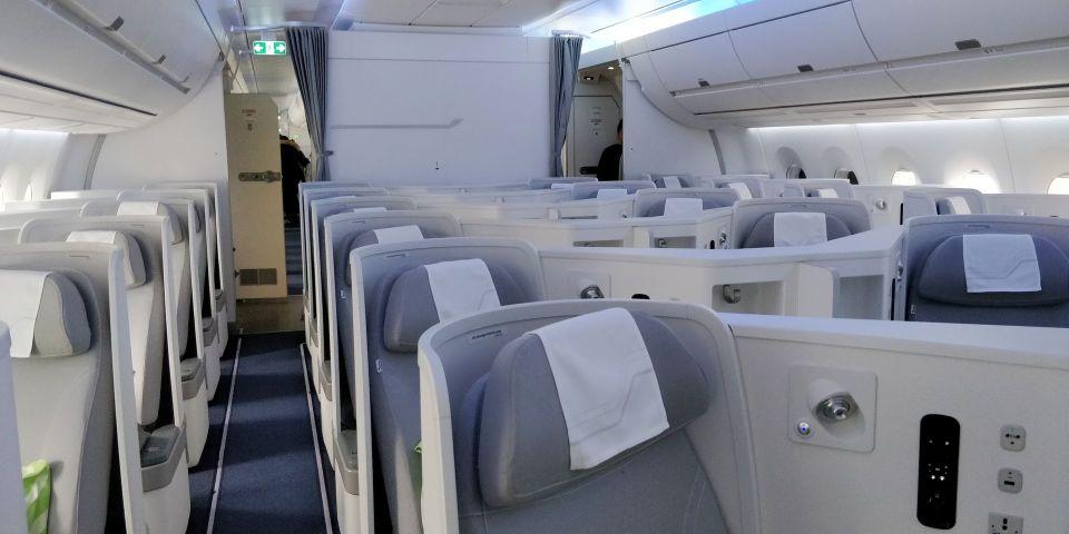 finnair business class airbus a350 cabin