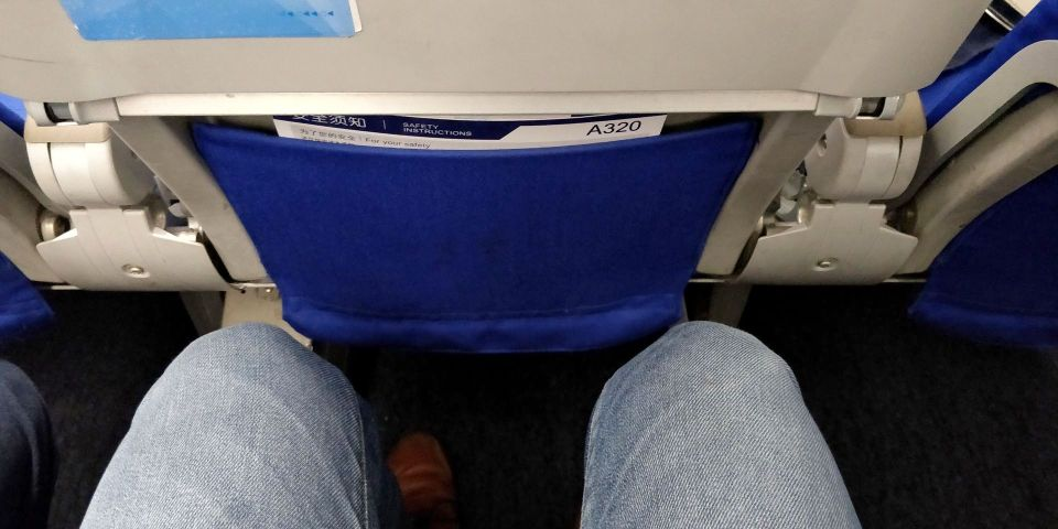 China Eastern regional Economy Class Seat Pitch
