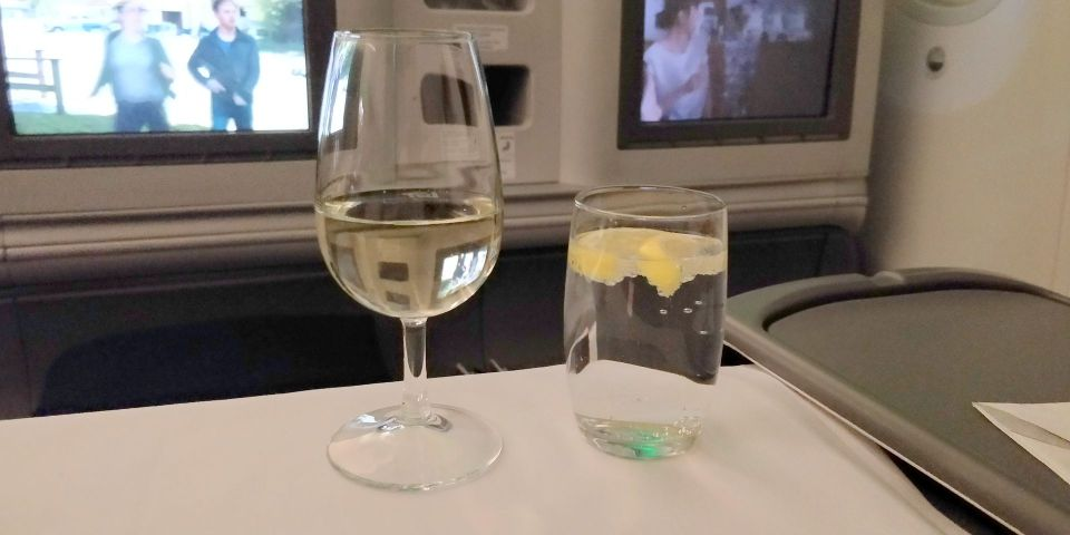 LOT long haul Business Class Drinks