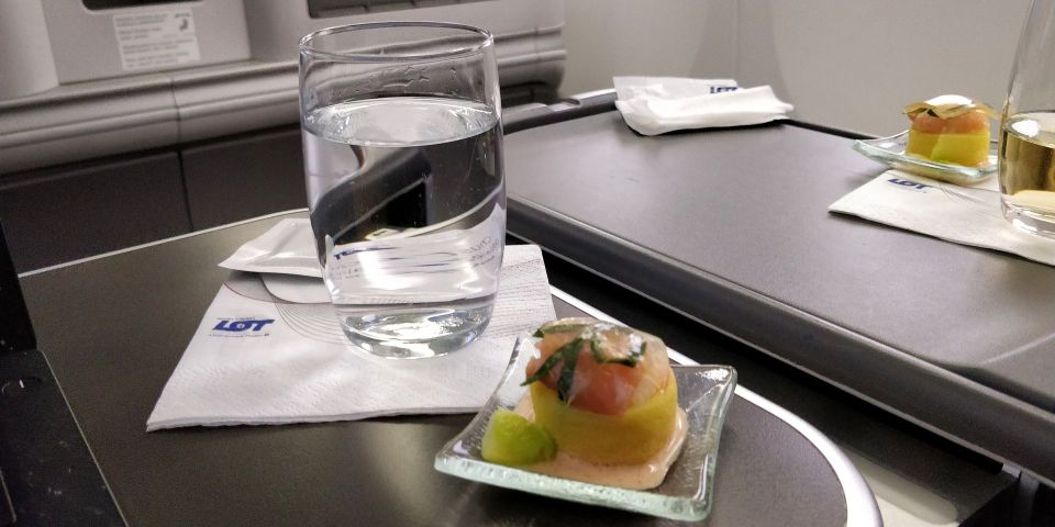 LOT long haul Business Class Snack