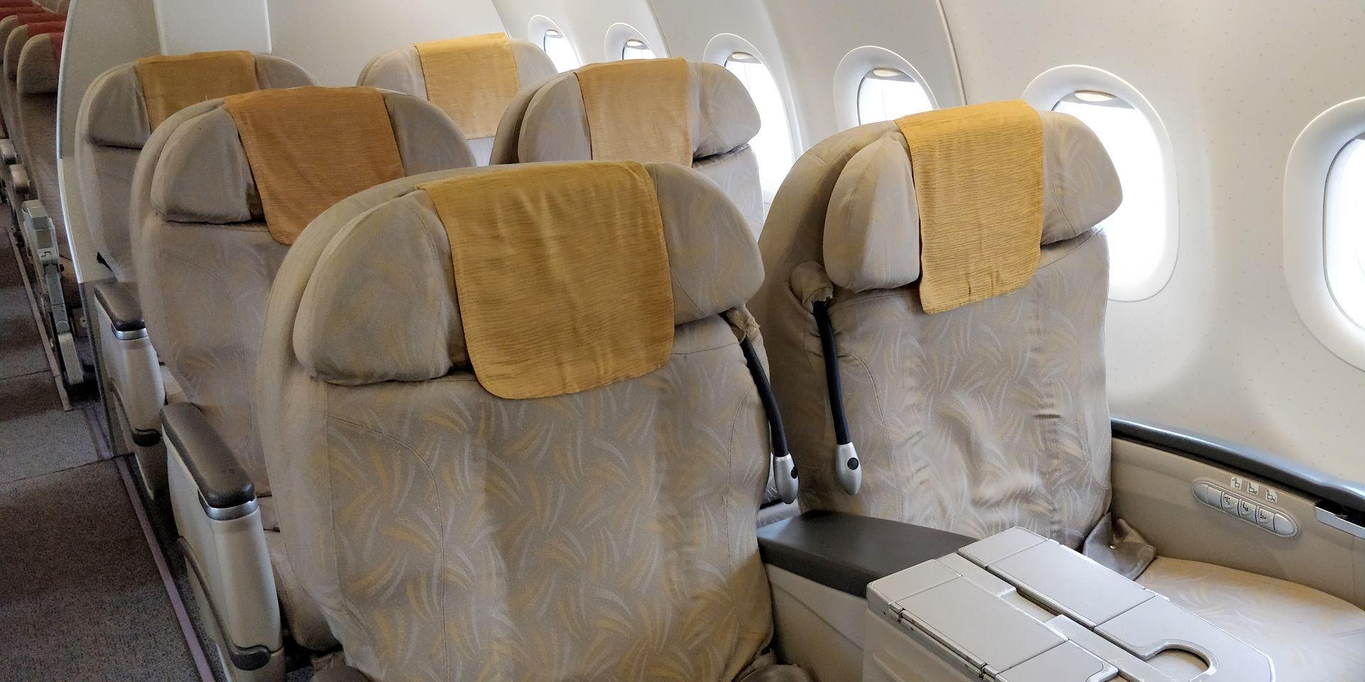 Asiana regional Business Class Seat