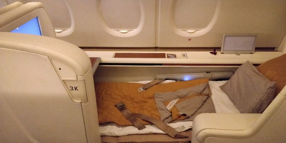 Thai Airways First Class Airbus A380 Bett