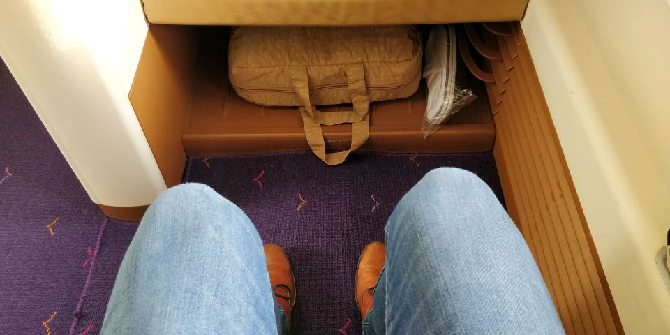 Thai Airways First Class Airbus A380 Sitzabstand