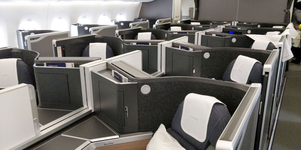 British Airways Business Class Airbus A350 Cabin