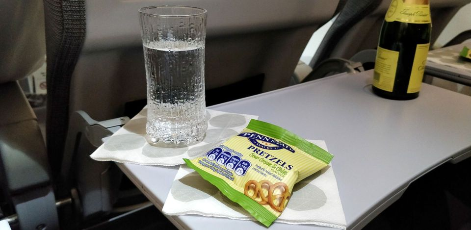 Finnair regional Business Class Snack