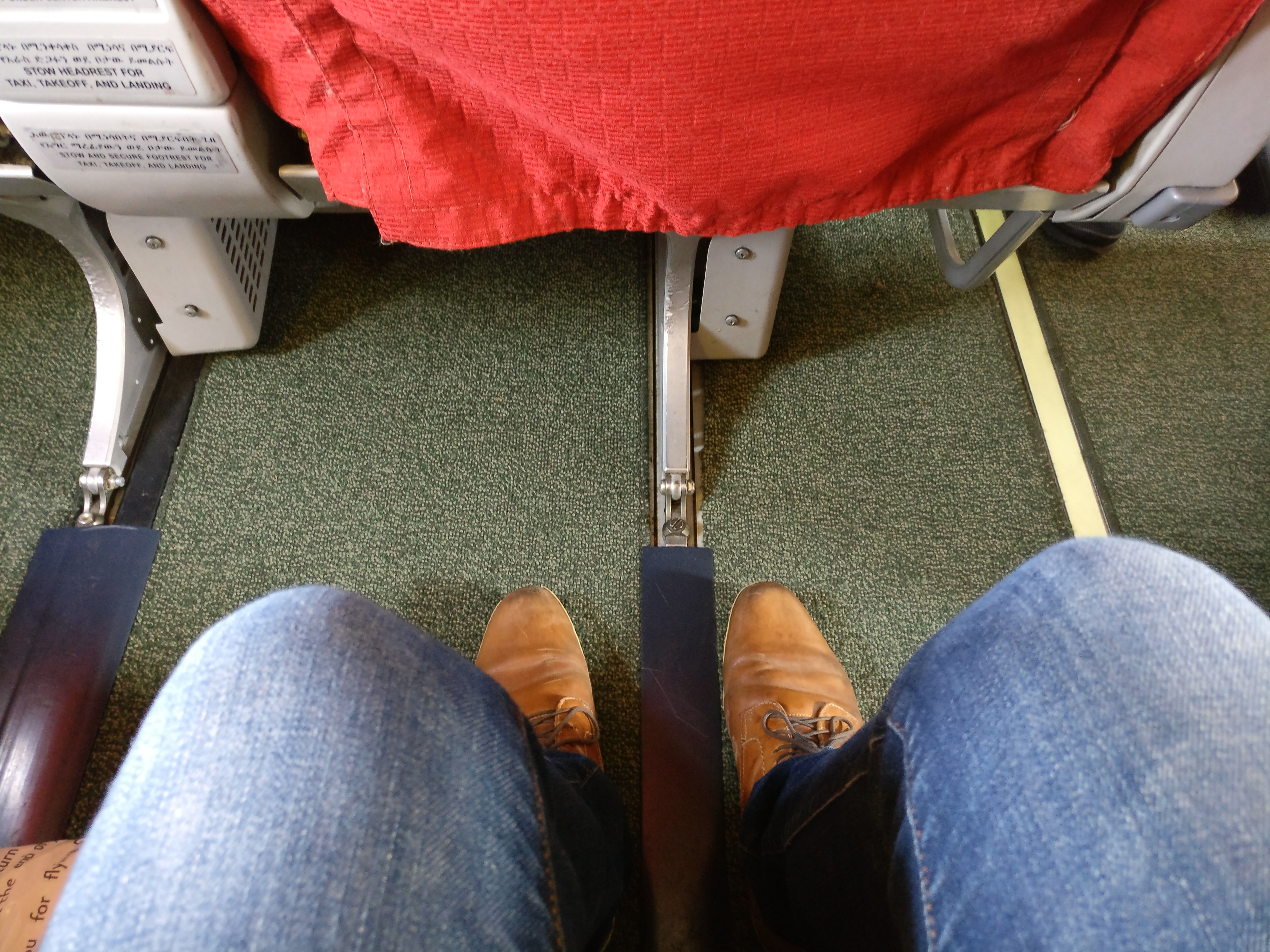 Ethiopian Airlines Business Class Boeing 737 Seat Pitch