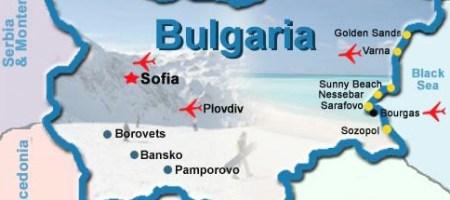 карта аэропортов Болгарии