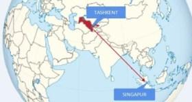 Авиарейс «Ташкент-Сингапур»