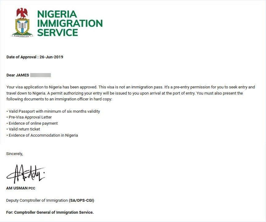 my nigeria visa on arrival experience