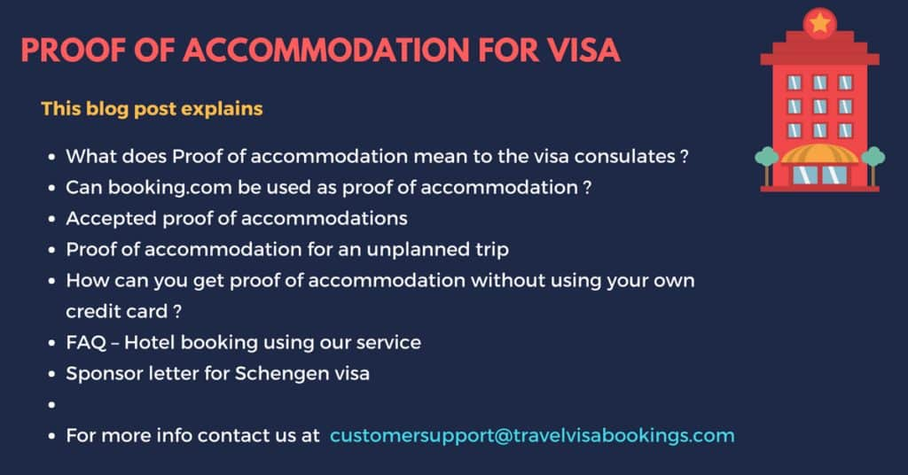 Proof Of Accommodation For Visa Application Just 19