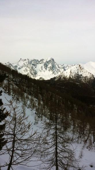 Vista sul Monte Bianco (inverno)