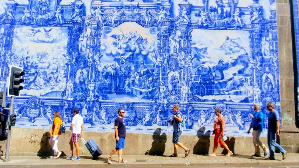blue tiles portugal