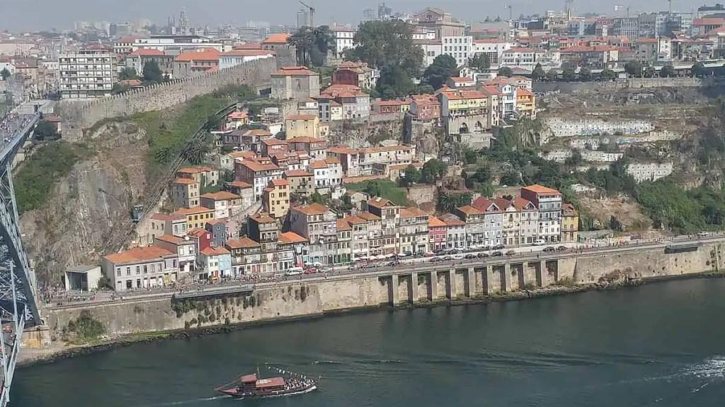 very high bridge in Porto