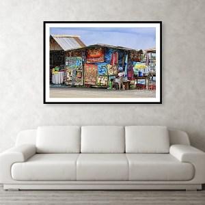 Caribbean Art vendor in Bocas del Toro, Panama