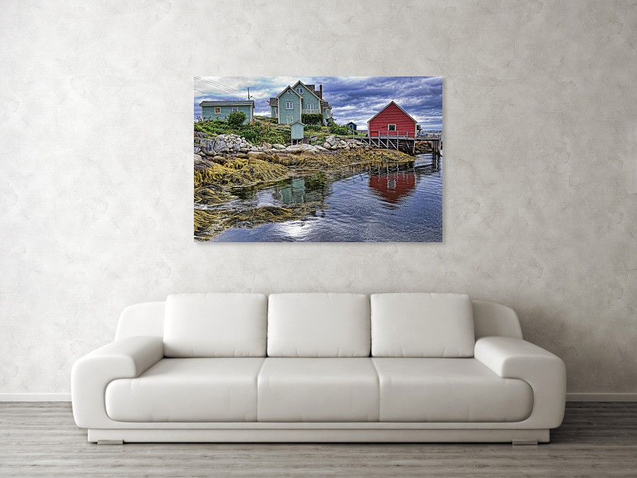 Low tide at Nova Scotia, art print for wall decor