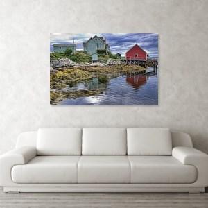 Low tide at Nova Scotia, art print for wall decor