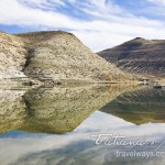 Flaming Gorge Reservoir water reflections creating a stunning symmetry