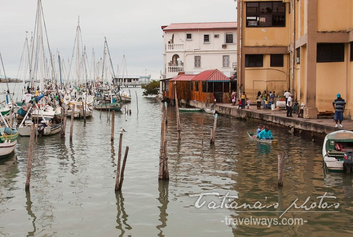 Belize City harbor and marina
