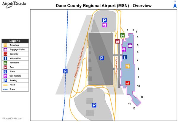 Madison - Dane County Regional-Truax Field (MSN) Airport ...