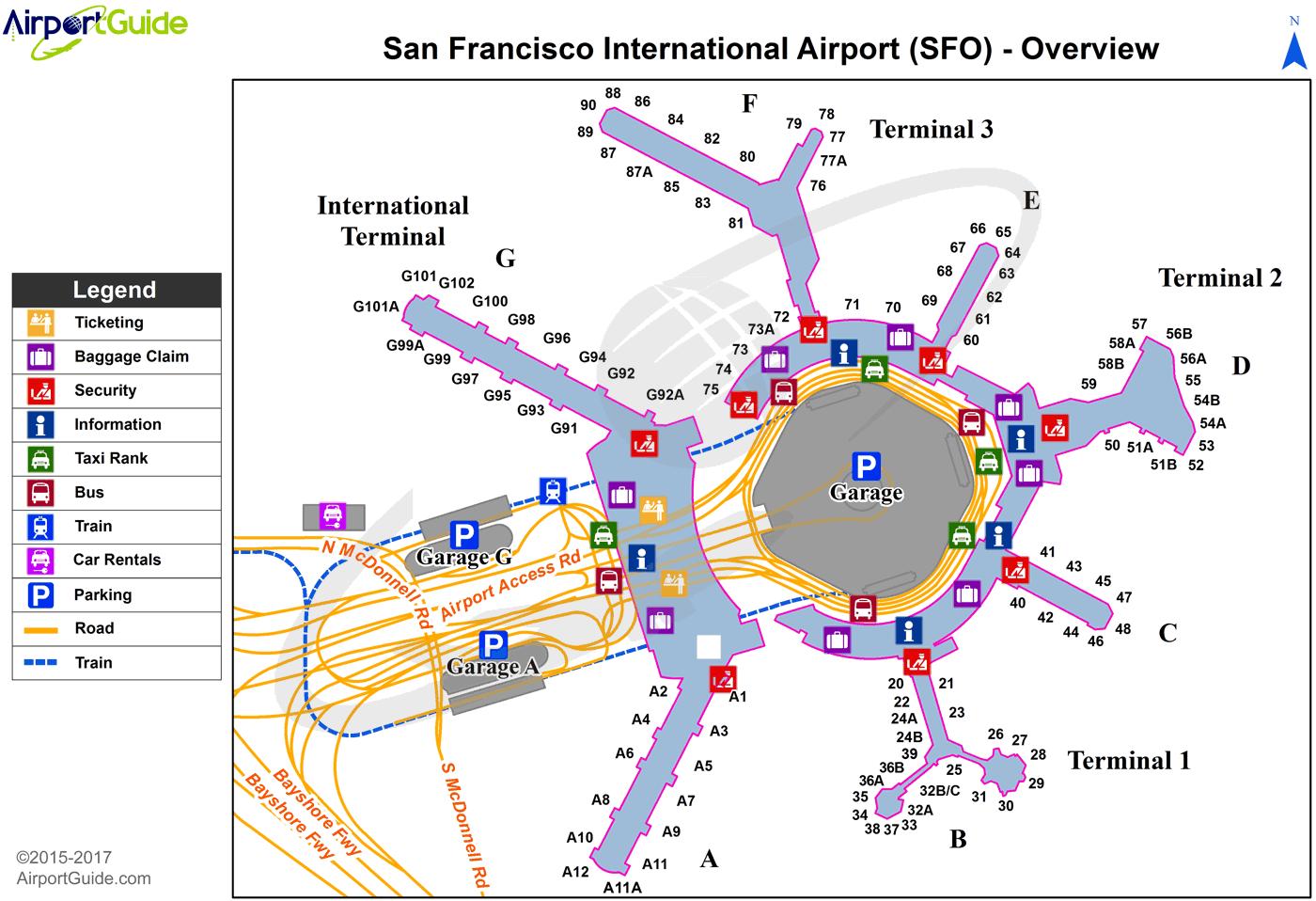 Sfo Airport Map Afp Cv