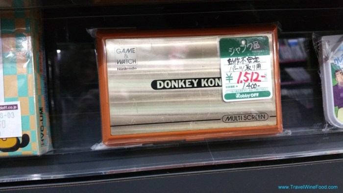 Second Hand Shop Japan with the Original Donkey Kong for sale