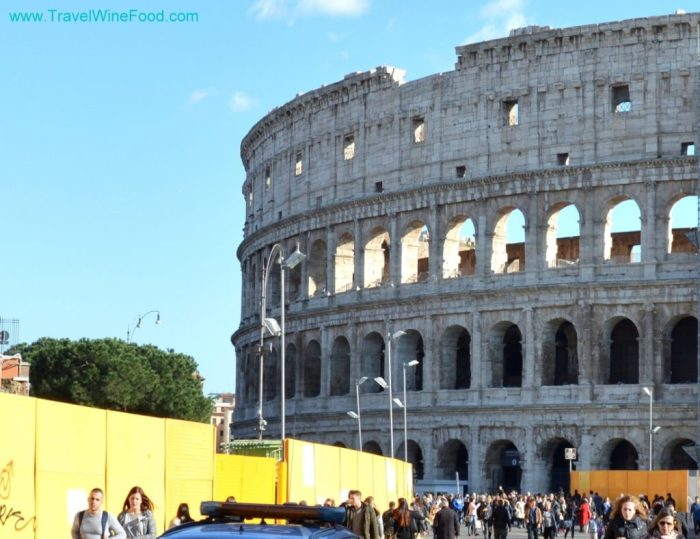 An outside view of the Colosseum