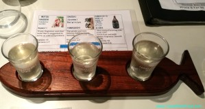 Saki Tasting Paddle at Sushi Studio