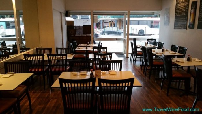 Tables at Sushi Studio in Neutral Bay