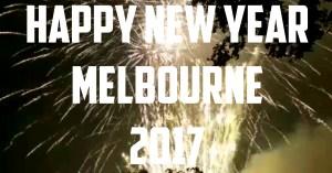 Melbourne Fireworks 2017 Flagstaff Gardens Happy New Year