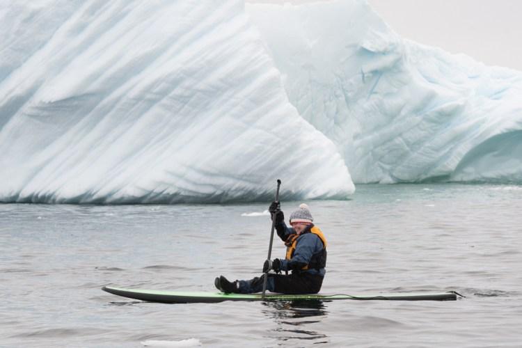 Paddleboarding in Antarctica
