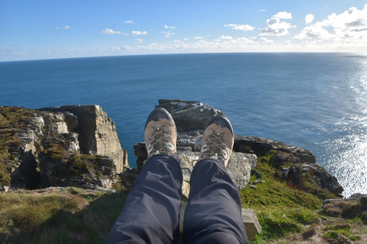 Relaxing on a stone fence ~ Isle of Man