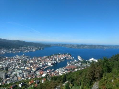 Bergen from Mount Floyen..