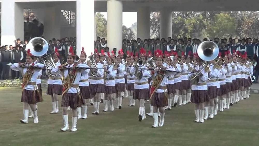Birla Balika Vidyapeeth NCC Band, Pilani, India. Plays in Republic Day parade every year.