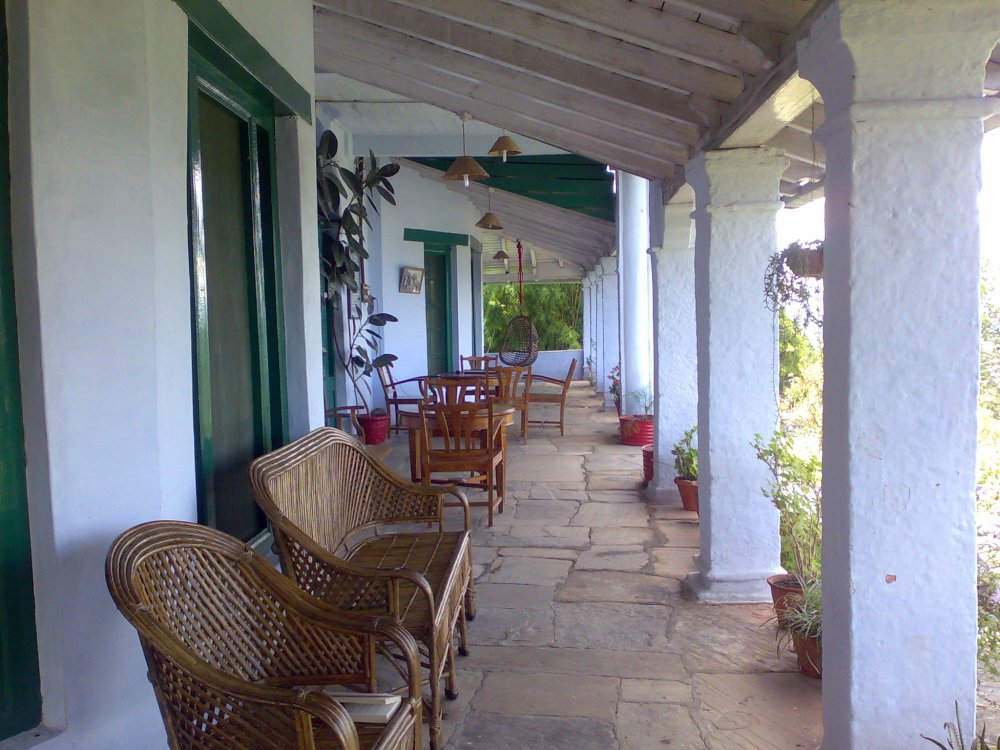 Holm Farm Heritage, Ranikhet, India. A hill station resort on top of a hill.