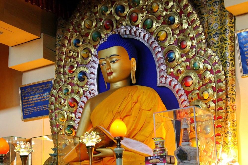 Buddha at Dalai Lama's Tsuglagkhang Temple complex, Macleodgang,India