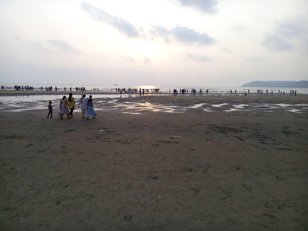 Miramar Beach in Goa, India. Goa is famous for it's beaches