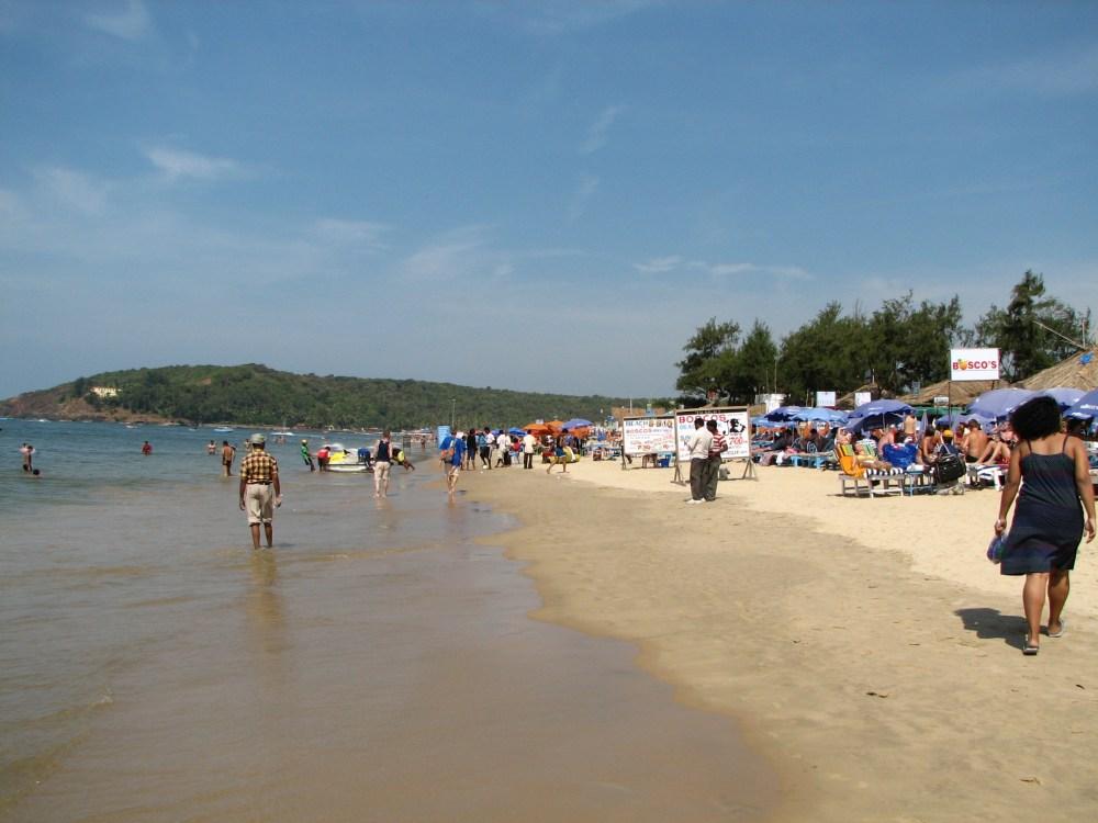 Baga Beach, Goa, India. Goa is famous for it's beaches