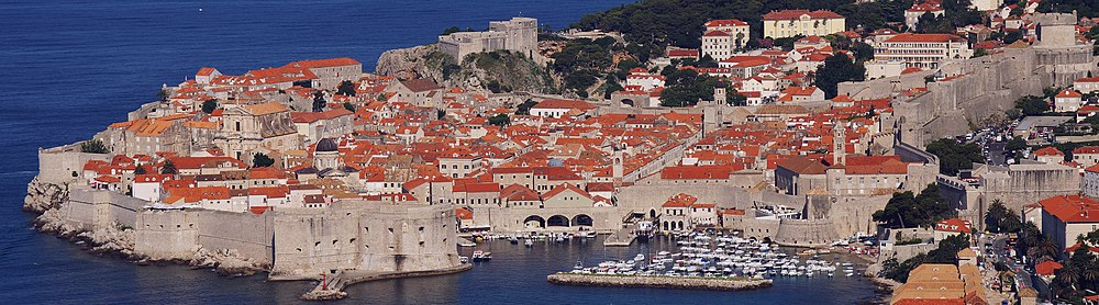 Panoramic view of Dubrovnik Old City, Croatia