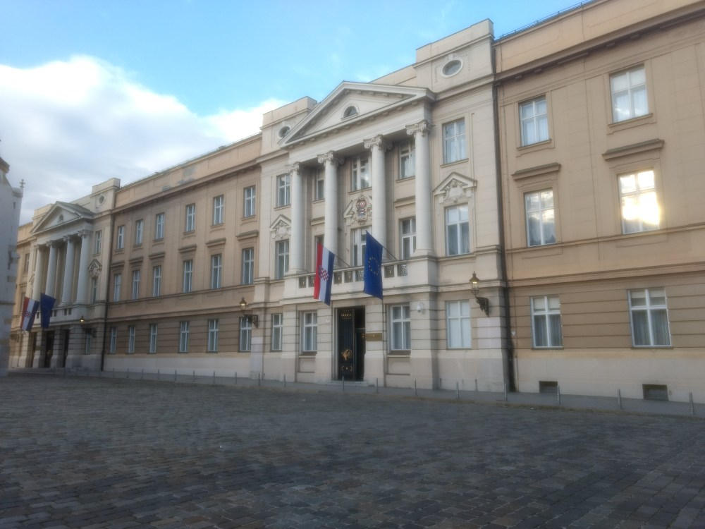 The Prime Minister's Office, Zagreb, Croatia at St.Mark's Square