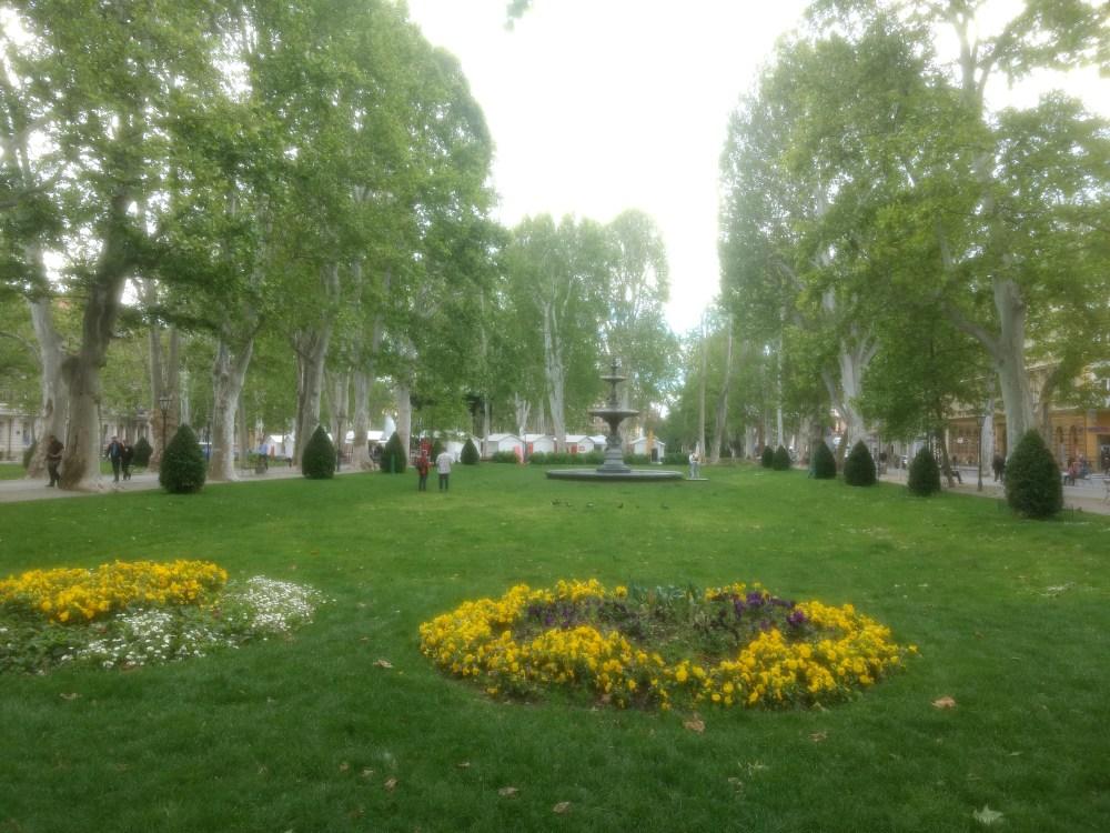 Zrinjevac Park. Zagreb, Croatia