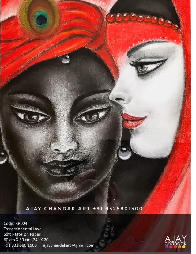 Ajay Chandak Art Krishna Painting Series