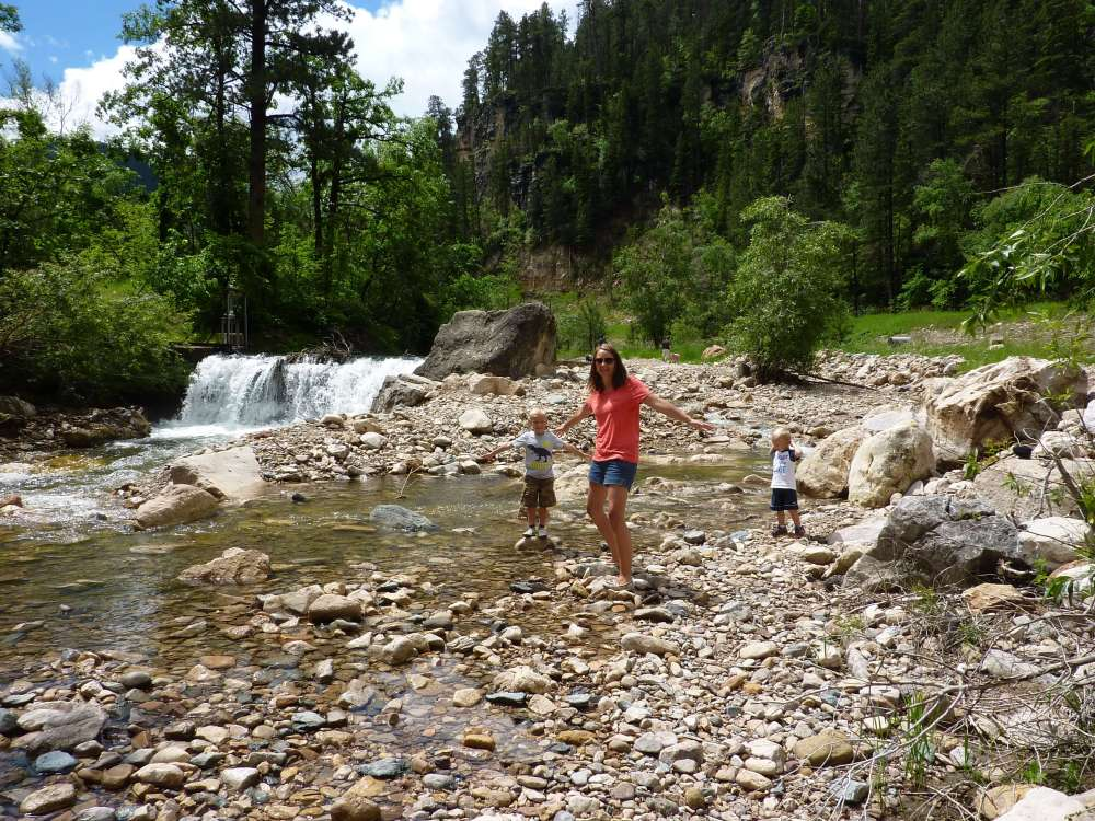 Top US Travel Blog, Travel With A Plan and the best things to do in the Black Hills with kids:  Spearfish Canyon