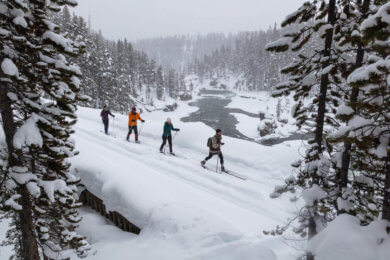 cross country skiing front image