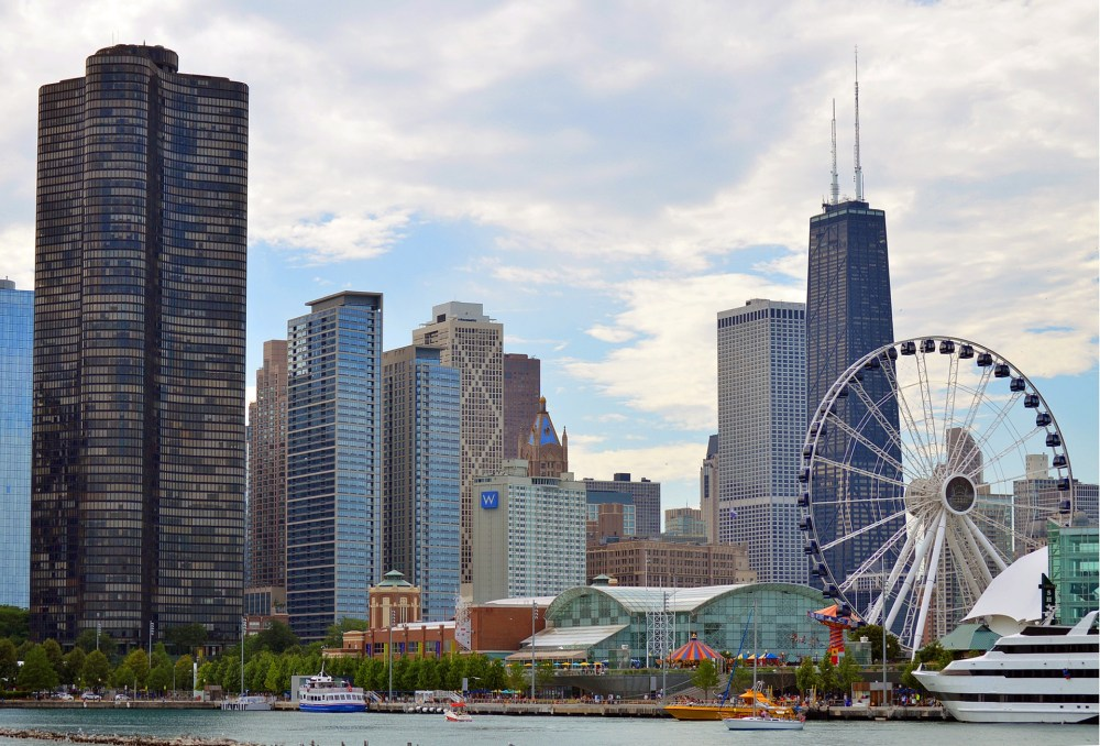 Top U.S. family travel blog, Travel With A Plan, features the best Chicago Food Tours for families! | Chicago Food Tours: Which One is Best For Families & Kids by popular family travel blog, Travel With a Plan: image of the Chicago skyline.