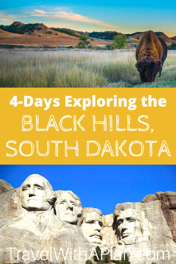 This 4-day Black Hills itinerary includes the best things to do Black Hills for families with children! Don't miss any of the iconic sights and attractions that makes this one of the most popular U.S. bucket list destination! We ordered the sights and attractions perfectly! #blackhillsitinerary #bestthingstodointheblackhills #thingstodointheBlackHills #southdakotawithkids #blackhillsfamilyvacation #4dayblackhillsitinerary